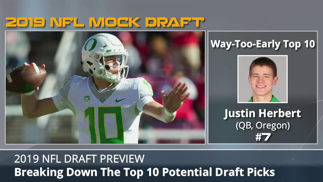 2019 NFL Draft: Way-Too-Early Top 10 Mock Draft - YouTube