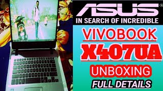 | ASUS VIVOBOOK X407UA UNBOXING INDIA | CORE I3 7TH GENERATION BUDGET LAPTOP Under 30k |