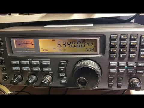 Radio coran Algeria via France 5940 KHz with ID on Icom IC R8500