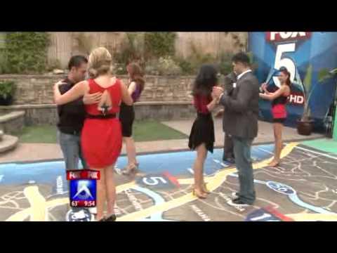 Ali & Roberto Salsa Dance With Dancing Stars on Fox 5 San Diego