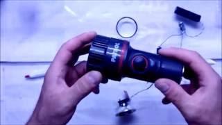 Светодиодный фонарь своими руками(Переделка обычного фонаря в светодиодный с применением аккумулятора 18650 и 3-х ватного светодиода. Плюсы..., 2016-06-28T16:38:55.000Z)