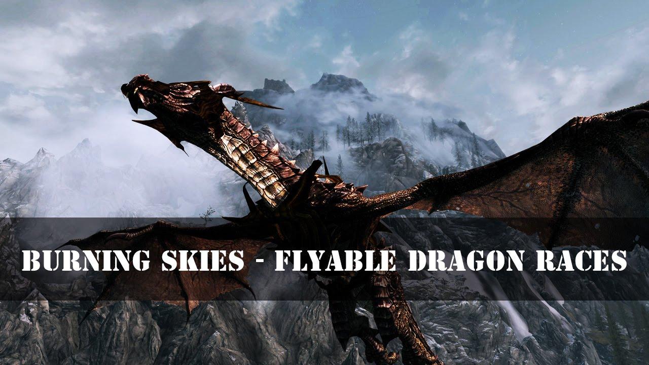 Скачать мод flyable dragon races на скайрим