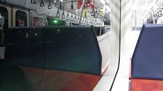 JR東日本E129系 上越線の長岡行きが水上駅を発車(車内より)