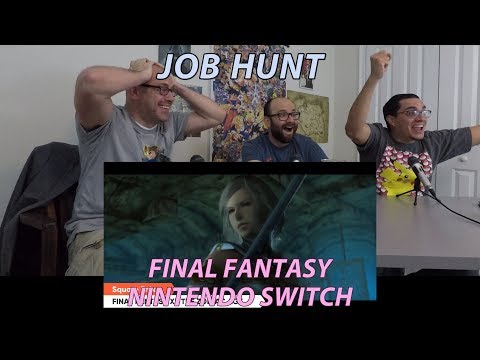 Reaction: Final Fantasy on Nintendo Switch (All Reveals) (Nintendo Direct)