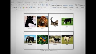 How to insert images into word document table Microsoft word