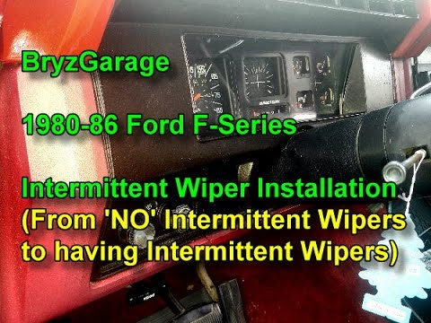 1980-86 Ford F-Series Intermittent Wiper Switch Installation - YouTube