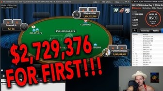$2.7MM FOR 1ST!! PartyPoker MILLIONS FINAL TABLE!!