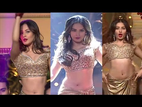 Pooja Bose Hot Navel Show at Stage Performance 2017