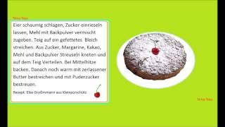 Немецкий язык по *бабушкиным рецептам*. *Omas Rezepte* SCHWIEGERMUTTERKUCHEN*
