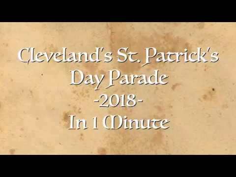 Cleveland's St. Patrick's Day Parade 2018 - In 1 Minute