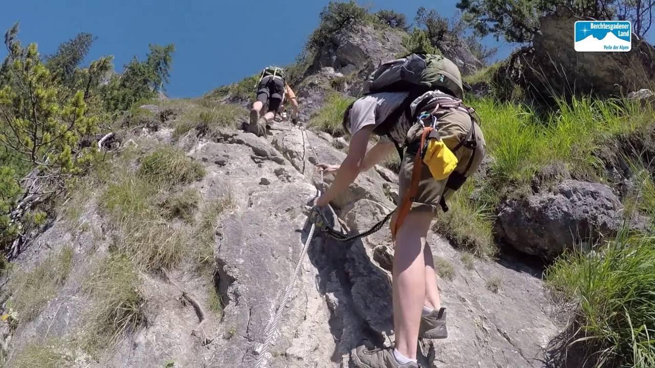Klettersteigset Verleih Berchtesgaden : Grünstein klettersteig youtube