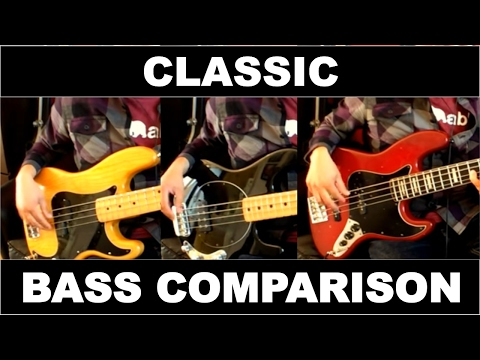 Bass Comparison Precision 1976 vs Jazz Bass 1978 vs  Stingray 2004