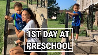 VLOG | HIS FIRST DAY AT PRESCHOOL