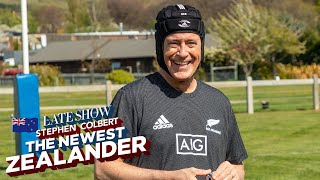 Stephen Colbert Learns To Play Rugby With New Zealands All Blacks