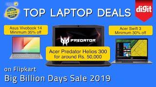 Top Laptop Deals on Flipkart Big Billion Days Sale 2019
