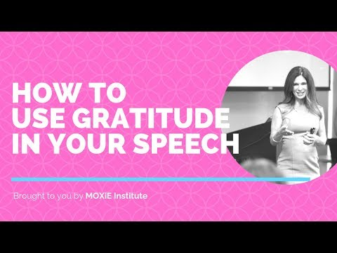 How to Express Gratitude in Your Speech