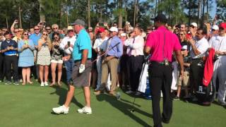 Download Tiger Woods takes the inaugural tee shot at Bluejack National. Mp3 and Videos