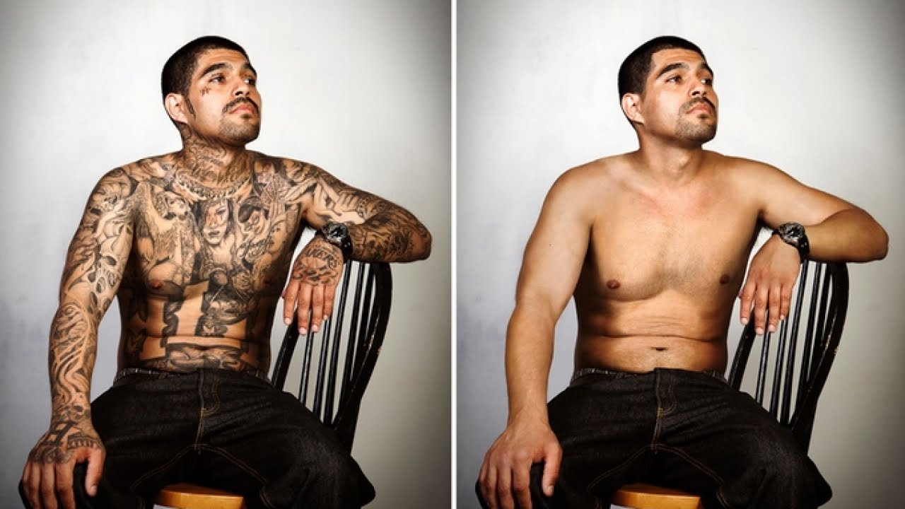 Ex Gang Members See Themselves Without Tattoos Youtube