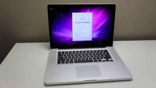 MacBook Pro 2011 Unboxing (Quad-Core)
