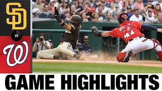 Padres vs. Nationals Game 1 Highlights (7/18/21)