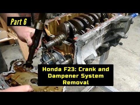 F23 Honda Accord Engine Rebuild Part 6: Crank and Internal Dampeners Removal