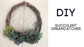 DIY Succulent Dreamcatcher