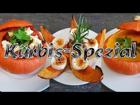 3 leckere Kürbis-Rezepte   Kürbissuppe  Hokkaido-Kürbis + Ziegenkäse Gefüllter Kürbis   Mori  kocht