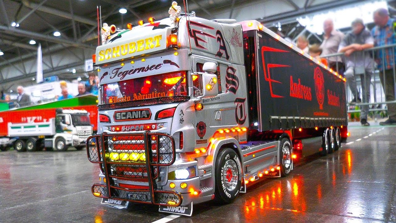 MOST IMPRESSIVE RC MODEL TRUCKS!! RC SCANIA, MAN, ACTROS, GRAND HAULER, SUPER SCALE!!