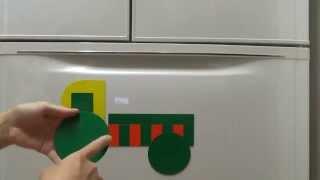 図形パズル、マグネットプレート、図形プレート、図形で楽しく遊ぶ 私が...