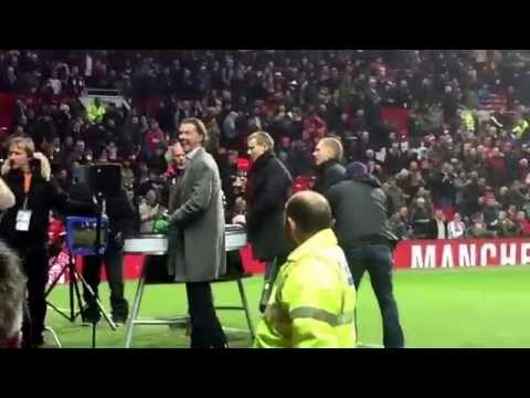 You Scouse b@stard!!! Steve Mcmanaman abused by Manchester United fans