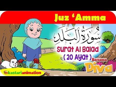 QS Al Balad   Mengaji Juz Amma bersama Diva   Kastari Animation Official