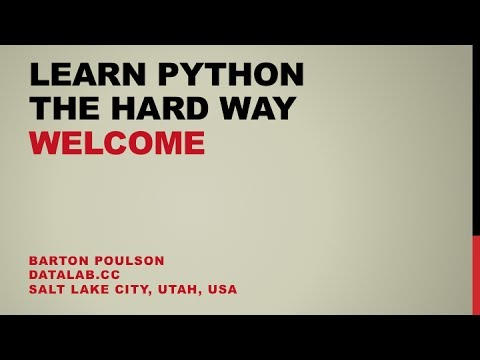 Learn Python the Hard Way - Welcome