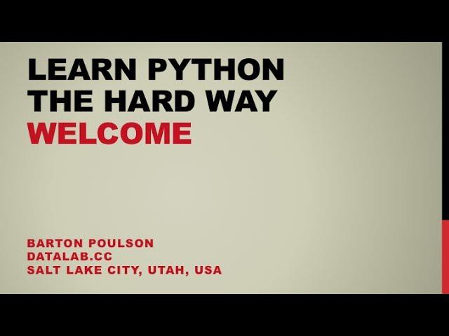 Course Python with Barton Poulson   Cursa - Learn with a lot