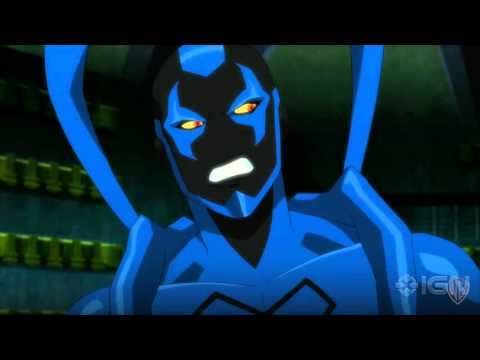 "Justice League vs. Teen Titans - ""Robin Fights Blue Beetle"" Clip"
