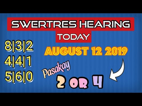 SWERTRES HEARING TODAY AUGUST 12 2019 | LEIDY KENT
