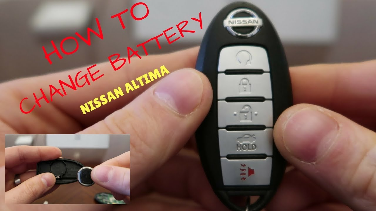 How To Change A Car Remote Battery On Nissan Altima Maxima Z370