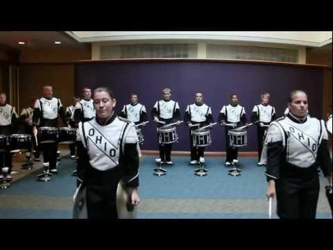 Ohio University Marching 110 Drumline - Cadences - 9/22/2012