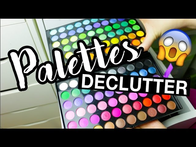 GETTING RID OF MAKEUP! Decluttering my Palettes