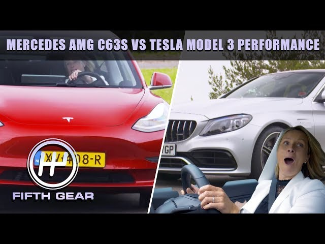 TESLA MODEL 3 VS MERCEDES AMG C63S | FIFTH GEAR