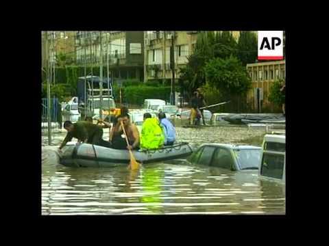 Israel Bat Yam Flooding