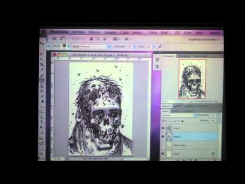 Tony Moore drawing a Zombie at FIC 2011