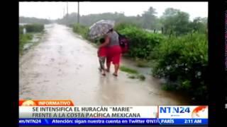 Precaución: Huracán Marie avanza y alcanza categoría 5 frente a costas mexicanas