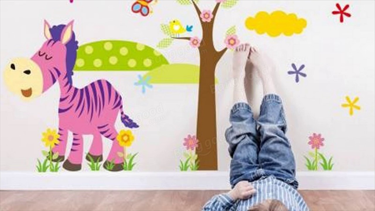 Jungle animal removable kids wall stickers youtube jungle animal removable kids wall stickers amipublicfo Choice Image