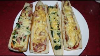 Вкусная закуска – хрустящий багет с начинкой. 3 лучших рецепта.