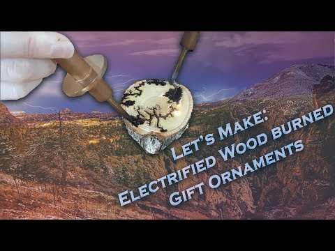 Let's Make: ELECTRIFIED FRACTAL WOODEN Holiday Ornaments and DIY Key Holders