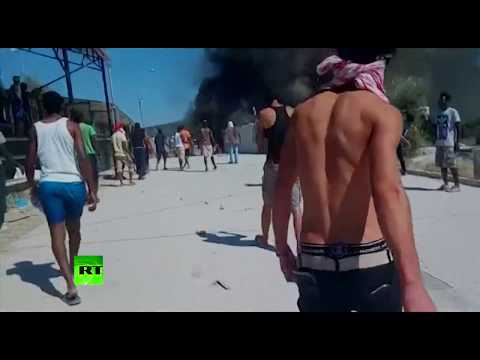 'Out of control': Protesters set fire in Greek refugee camp