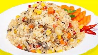 Рассыпчатый рис с овощами, очень вкусный и простой рецепт!