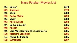 Nana Patekar Movies List