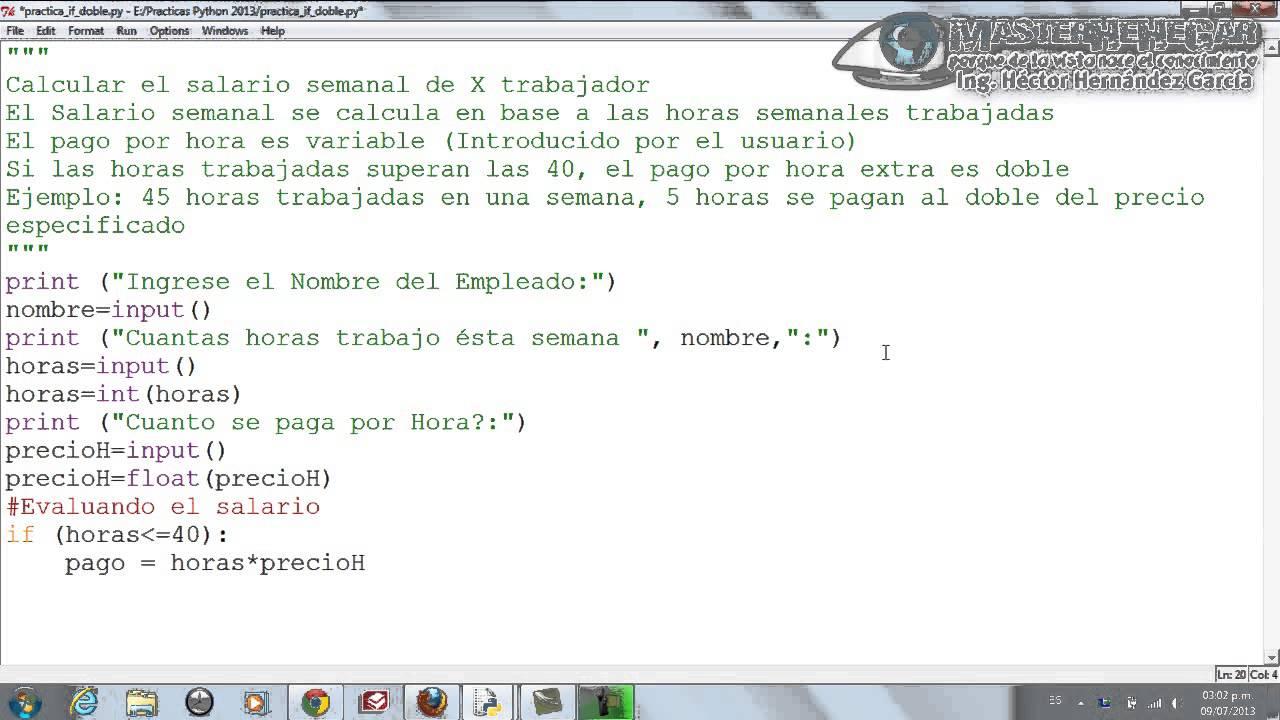 12 - Ejercicio Práctico con Estructura Condicional Doble if (Python ...