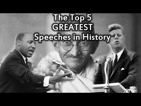 best persuasive speeches in history As the political season heats up, time takes a tour of history's best rhetoric.